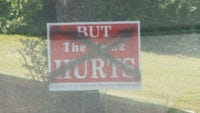 A number of signs against the name Robert E. Lee High School were vandalized in various locations in Staunton.