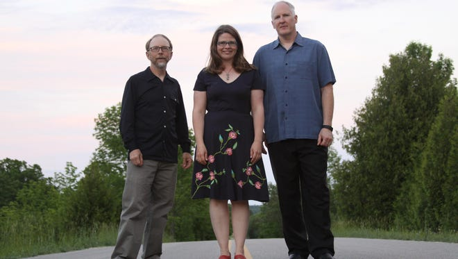 "Rich Higdon, Katie Dahl and Eric Lewis, from left, are the musicians on ""Solid Ground: The Songs of Fred Alley."" The trio will take the stage for an album release concert Aug. 23 at Door Community Auditorium, with proceeds going to Northern Sky Theater's Constellation Campaign."