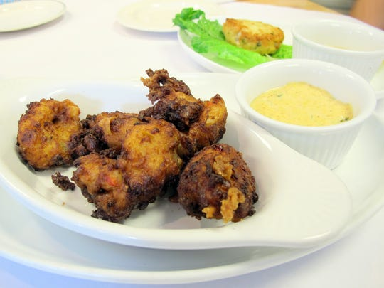 Fried conch fritters at Charlie's Seafood & Pub off Immokalee Road in North Naples.