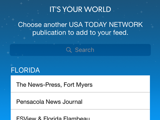 Choose local content from 90+ USA TODAY Network sites