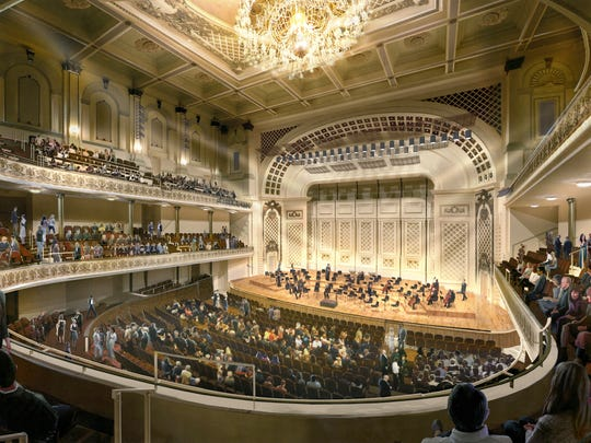 A rendering of how Springer Auditorium might look when