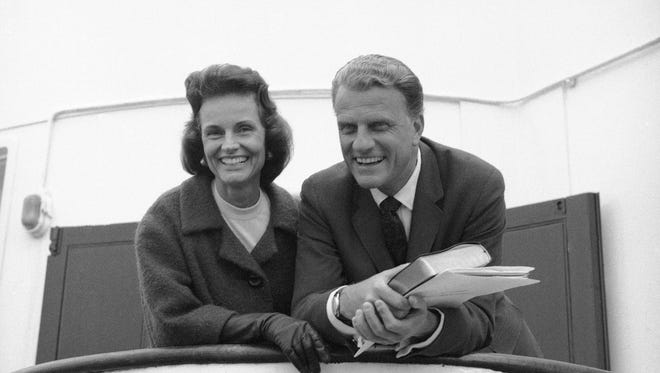 Billy and Ruth Graham in 1966.