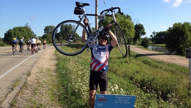 Brian Yagoda is seen lifting his bicycle at a charity ride for MS in this undated photo. He was killed riding his bicycle June 14, 2018, in Delafield. The man convicted in his accidental death. James Kramp, 73, of Waukesha was sentenced Dec. 20 in Waukesha County Circuit Court.