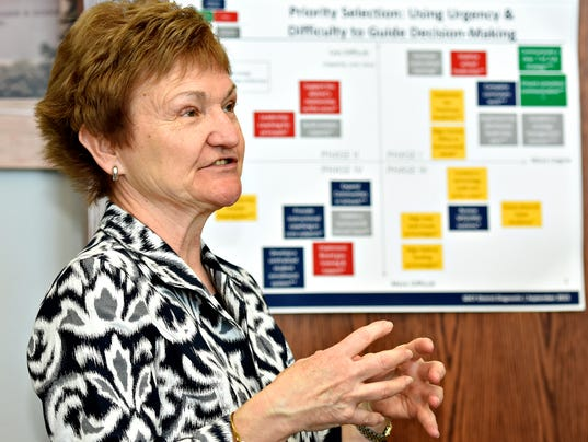 York City School District's Chief Recovery Officer Carol Saylor