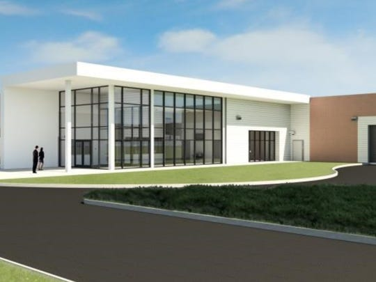 This rendering shows what the main entrance to the new Pickens County Detention Center could look like.
