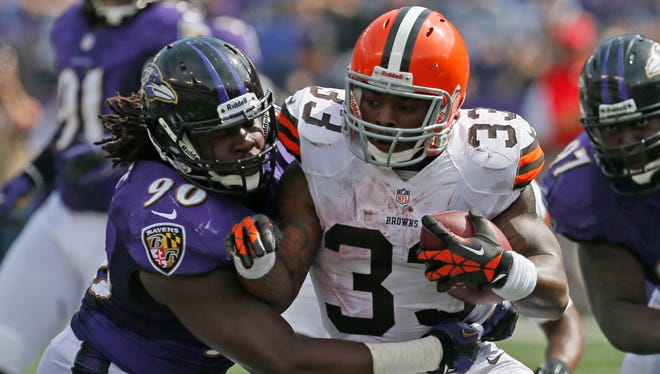 RB Trent Richardson rushed for 1,055 yards in 17 games with the Browns.