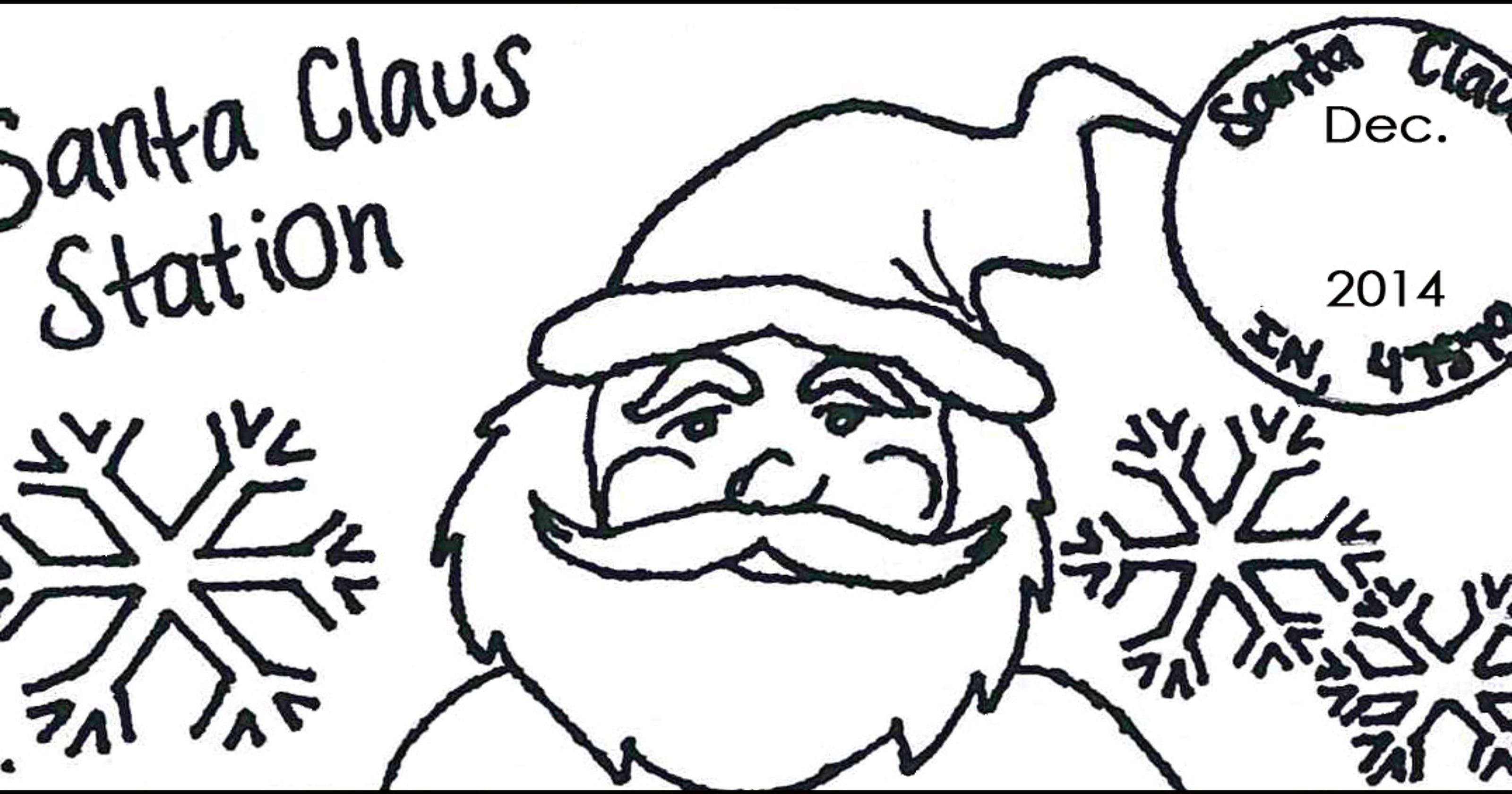 Official Santa Claus postmark available Dec. 1