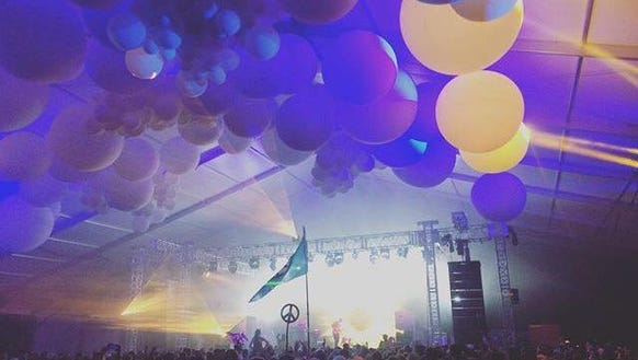 Inside the Pavilion Stage at Firefly Music Festival