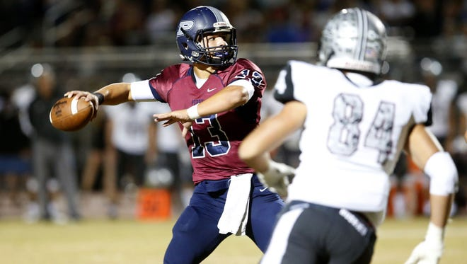 Brock Purdy broke former Chandler quartberack Bryce Perkins' single-season 6A state record for touchdown passes in Gilbert Perry's 72-14 quarterfinal rout of Chandler Hamilton.