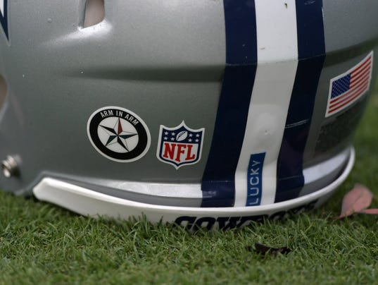 Dallas Cowboys not permitted to wear decal supporting police ...