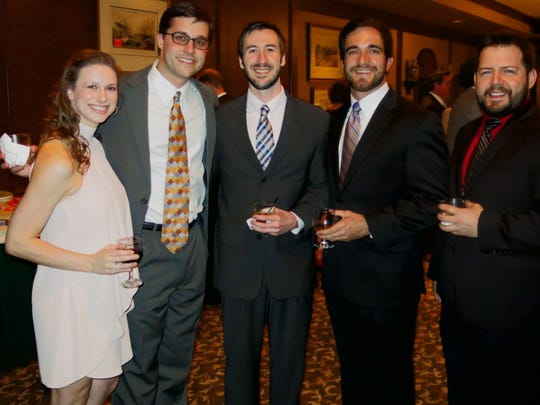 LSU Health Shreveport medical students at neurosurgery reception: Lauren Lange, John Sullivan, Lane Fontenot, Bryce Casteigne, Robert Ross