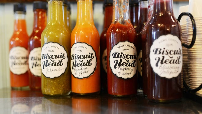 Biscuit Head features a variety of biscuit dishes along with a breakfast bar full of unique jams.