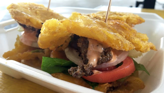 Tostone sliders are a Hot Dish from King's Kitchen in Fort Myers.