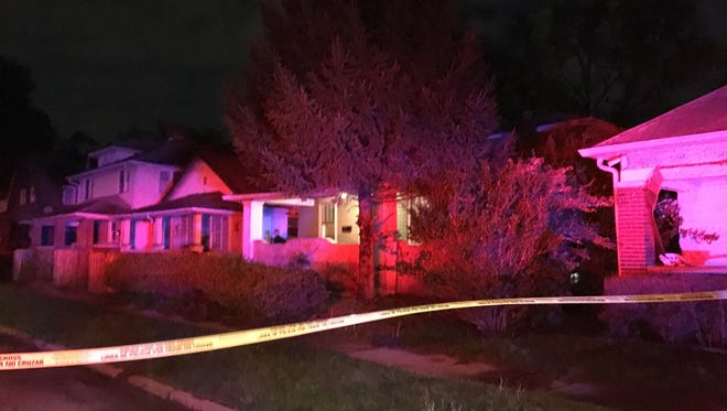 Indianapolis Metropolitan Police are investigating after two people were fatally shot in the 1600 block of Villa Avenue on April 20, 2017.