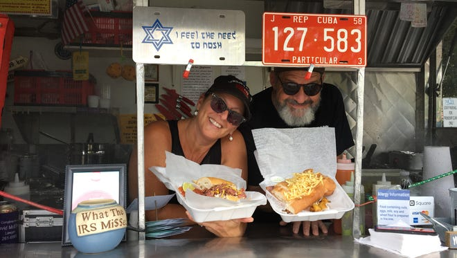 "Julie Dana and Ray Garcia own JewBan's Deli Dale food truck. ""People think she's Cuban and I'm a rabbi,"" says Garcia."
