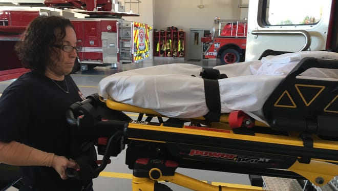 Burlington Fire District Emergency Medical Technician Melissa Wilson will get higher paramedic training so she can administer treatment in lifesaving situations and do more than lift people into a stretcher and help paramedics on the ride to the hospital.