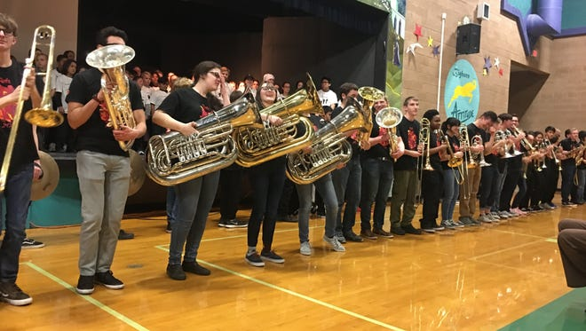 McQueen High Marching Band at WCSD's State of Education address on March 7, 2018.