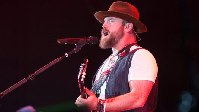The Zac Brown Band, seen performing at the Ak-Chin Pavilion on Thursday, Oct. 16, 2014.
