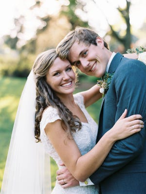 Madison Longmire and Cody Fisher married at St. George's Episcopal Church on July 25.