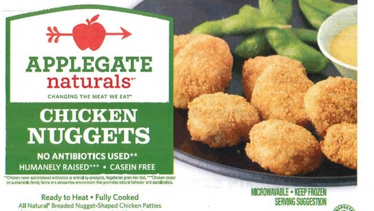 The label for Applegate Naturals Chicken Nuggets