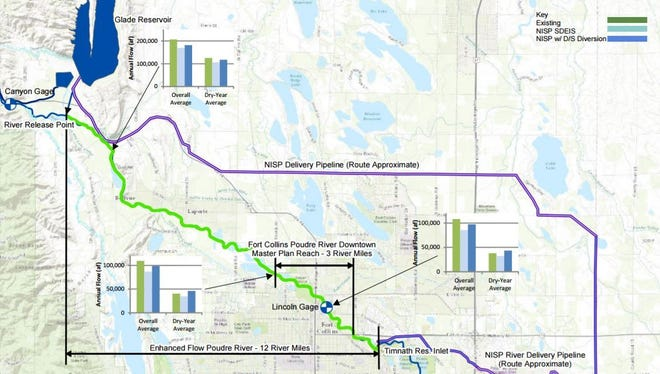This map shows the location of the proposed Northern Integrated Supply Project, or NISP.