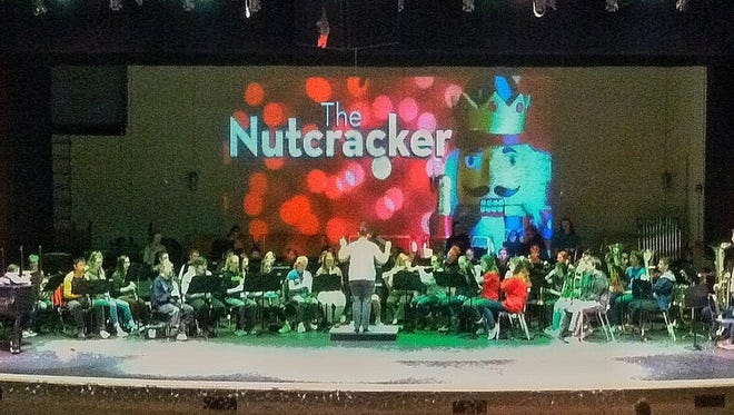 """The Williamsburg High School concert band rehearses for """"The Nutcracker,"""" to be presented Monday, Dec. 18, at Williamsburg High School."""