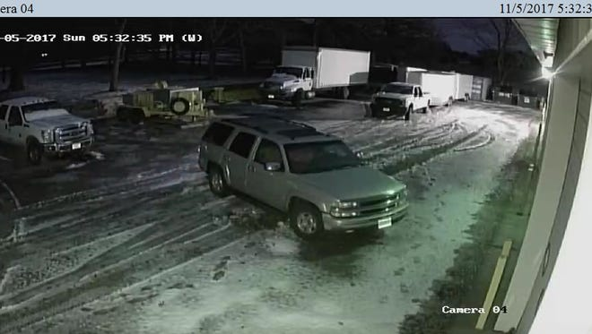 Benton County Sheriff Troy Heck released photos of a suspect vehicle in an investigation of November thefts at True North Wireless in Sauk Rapids.