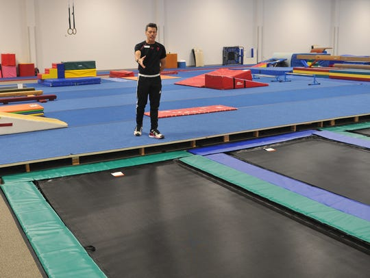 YMCA Gymnastics Director Joe Cronin talks about the four new in-ground trampolines at the Y's newly opened 12,000 square foot Stephens Family Gymnastics Center located at the Bill Bartley YMCA.
