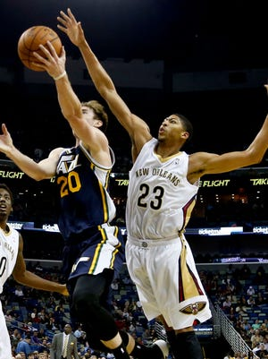 Anthony Davis (23) is averaging a league-leading 3.6 blocks a game.