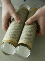 "Jack Kerouac's famous scroll, his first draft for the iconic novel ""On The Road"""
