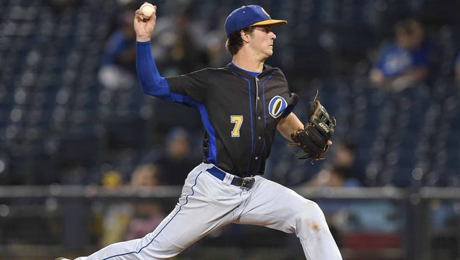 Oxford pitcher Jason Barber led the state with nine complete games last season.