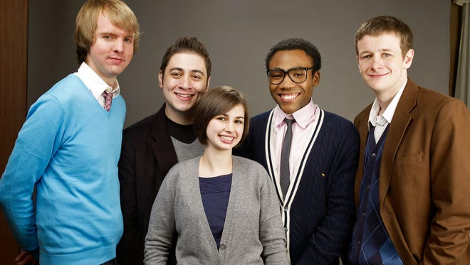 The cast of 2009's 'Mystery Team,' D.C. Pierson, director Dan Eckman, producer Meggie McFadden, actor Donald Glover and actor Dominic Dierkes.