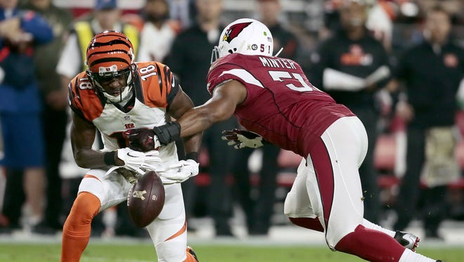 Arizona Cardinals middle linebacker Kevin Minter (51) is reportedly signing with the Bengals.