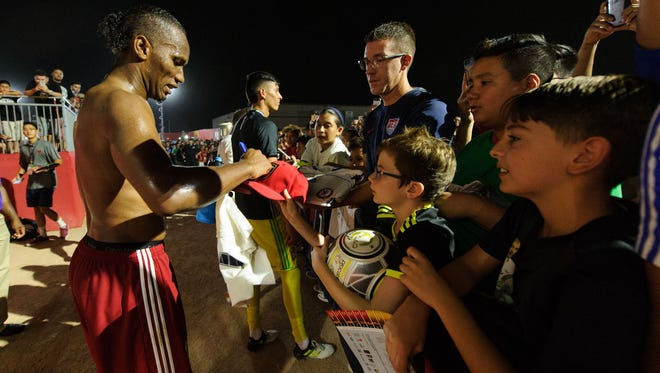 With a successful season under their belt, and with drawing power like international star Didier Drogba (pictured, left), the Phoenix Rising have their eyes set on MLS expansion.