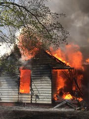 This is what the Lynnville Fire Department rolled up on Monday afternoon. The house on Hwy 61 burned to the ground.