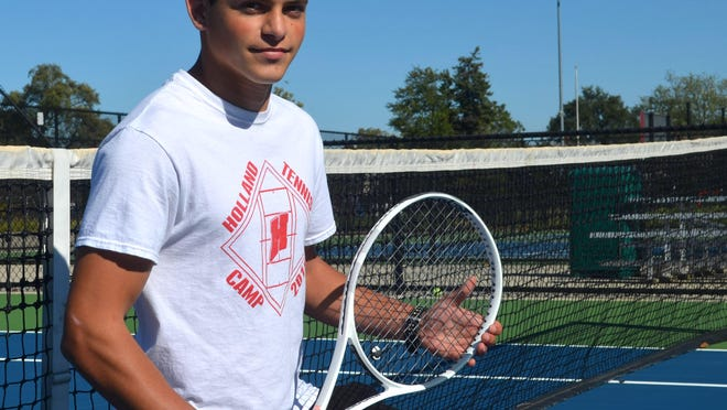 Holland's Cristian Castro-Gonzalez won the OK Green Conference title at No. 3 singles.