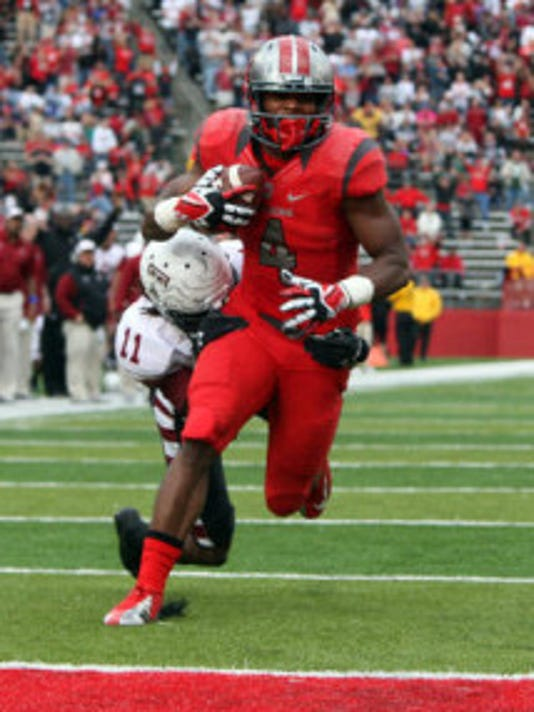 Wide receiver Leonte Carroo is serving an indefinite suspension. (File photo)