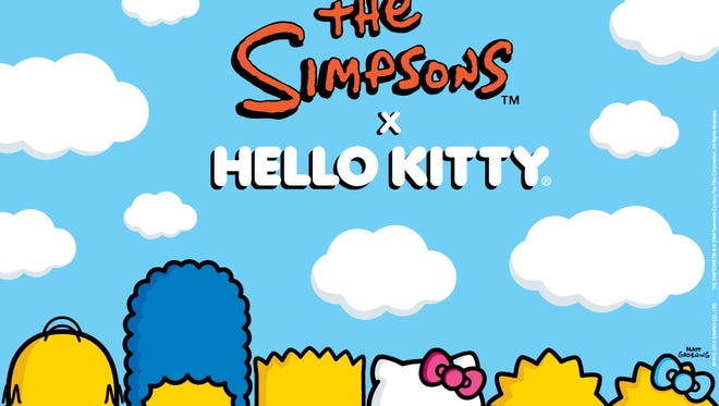 This new artwork teases the collaboration between Hello Kitty and 'The Simpsons.'