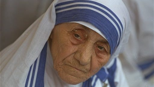 In this Aug. 25, 1993 file photo Mother Teresa, head of Missionaries of Charity, is photographed, in New Delhi,  India. Pope Francis has signed off on the miracle needed to make Mother Teresa a saint, giving the nun who cared for the poorest of the poor one of the Catholic Church's highest honors just two decades after her death. The Vatican said Friday that Francis approved a decree attributing a miracle to Mother Teresa's intercession during an audience with the head of the Vatican's saint-making office on Thursday, his 79th birthday