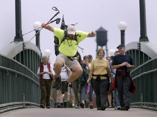 Andy Niekamp jumps for joy as he returns to Dayton