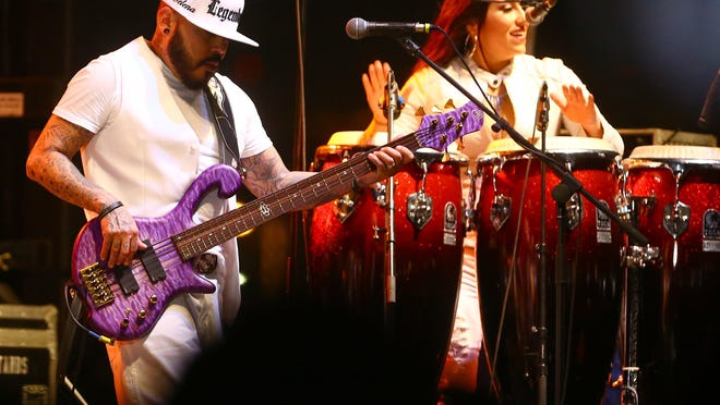 A.B. Quintanilla, left, performs with the Kumbia Kings All Starz at the Fiesta de la Flor: A celebration of the Life & Legacy of Selena in April 2015 in Corpus Christi, Texas. (Gabe Hernandez/Caller-Times file)