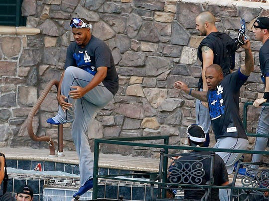 """If the Dodgers win at Chase Field, Dan Bickley suggests to the Diamondbacks, """"somebody better tossa Baby Ruth into the pool."""""""