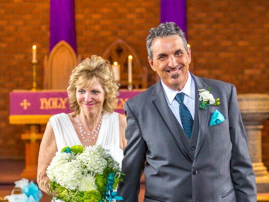 Cindy Whitesell and her husband.