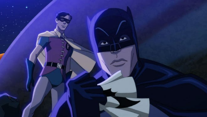 """Adam West, Burt Ward, and Julie Newmar have reunited to provide the voices for the new animated feature, """"Batman: Return of the Caped Crusaders,"""" due for release in October on Digital HD."""
