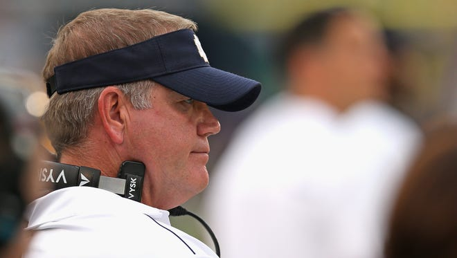 Head coach Brian Kelly of the Notre Dame Fighting Irish.