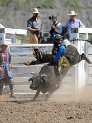 Bull rider Parker Breding of Edgar had an 86-point
