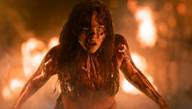 Chloë Grace Moretz in a scene from the horror film 'Carrie.'