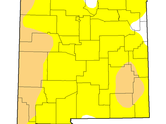 Current New Mexico Drought Monitor map. Current New Mexico Drought Monitor map. From http://droughtmonitor.unl.edu/Home/StateDroughtMonitor.aspx?NM