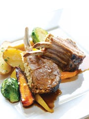 The roasted New Zealand rack of lamb was cooked to