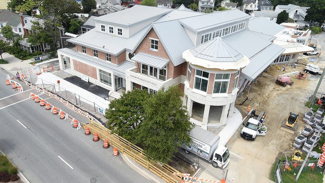 Rehoboth's new City Hall nears completion in downtown Rehoboth Beach.